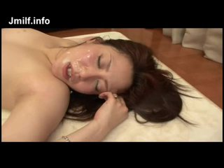 Asian MILF Wife Banged Cum On Her Light