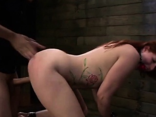 BDSM Battle-axe Pinkish Red Tyrell Endures Rough Anal Mating