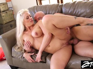 Chubby Tit Blonde Milf gets revenge more than skimp