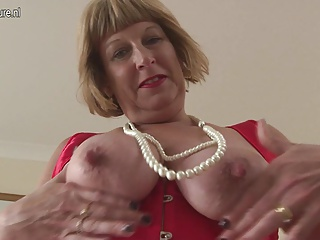 Horny British chubby granny getting very disparaging