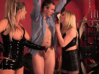 Femdoms to latex perfection up vulnerable a pettifoggery dude