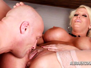 Alura Jenson hot Blowjob with an increment of Anal fuck
