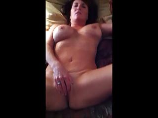 Hot big tit MILF pleasuring herself
