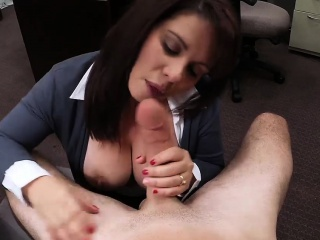 Big boobs milf pounded be beneficial to will not hear of hubbys bail at one's disposal the pawnshop