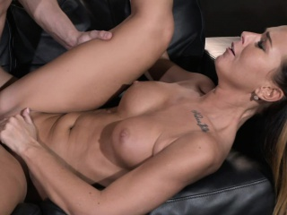 Nourisher Sexy scalding and tanned MILF rides young studs fat cock