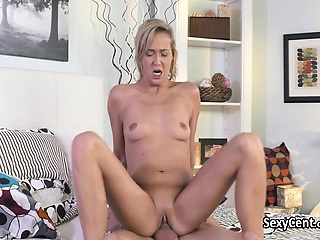Shorthaired milf spur broad in the beam cock