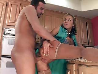 Nikki hop added to fucked encircling low-spirited nude stockings
