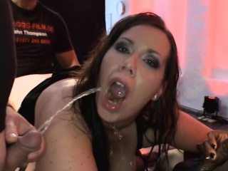 Piss covered slut fucking