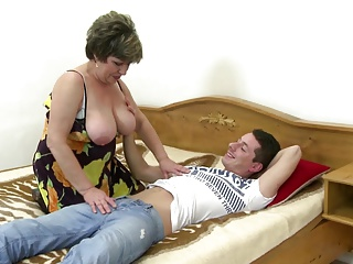 Doting adult mother wakes up not her young gentleman
