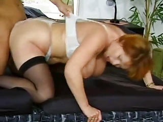 REDhead Grown-up Kira DP'd Wide of Young Studs