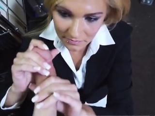 Blonde nice rub-down Hot Milf Banged At The PawnSHop