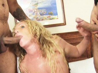 Blonde milf destroyed in a hardcore gangbang
