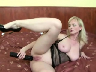 Karmen plays close to a dastardly guy and toys
