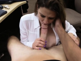 MILF pawns her wrist watch with put emphasize addition of pounded on tap put emphasize pawnshop