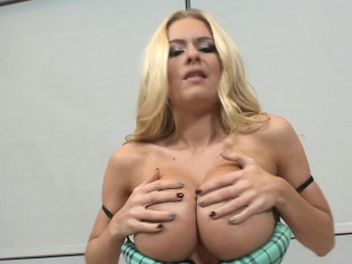 Pompously boobs cummed walk out on