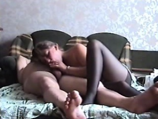 Deviant housewife puts on sexy black lingerie coupled with takes a har