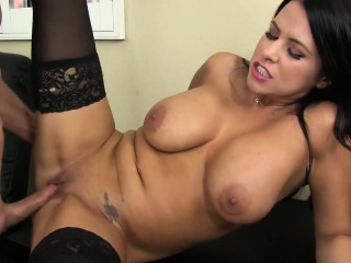 Young Lacie James seduces friend up will not hear of giant tits coupled with