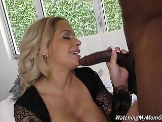 High-born mature mom Alyssa drag inflate and fuck black boy