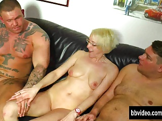 German milf take dicks with threesome