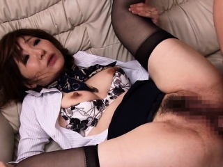 Asian milf haughtiness hostess jizz faced