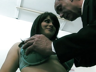 Curvy infant with powerful breasts has X threesome first of all Davenport