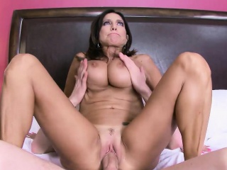 Tara Holiday rides Danny Ds huge cock bouncing her pussy