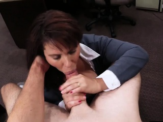 Booby MILF pawns her pussy and banged by ratchet dude