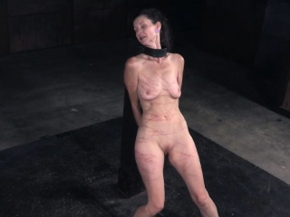 MILF battle-axe flogged together with clit toyed by maledom