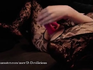Dutch redhead milf and pink dildo be useful to screaming orgasm