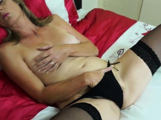 Lynetta from onmilfcom - Hairy british mammy playing with her