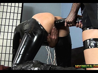Outstanding Dusky Dildo down Latex Cooky