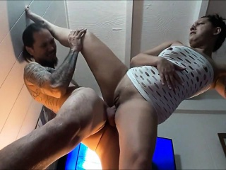 Untrained couple having coitus on camera