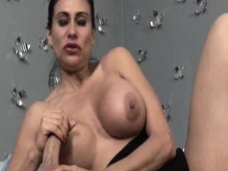 Bigtitted milf paroxysmal overhead dick after teasing