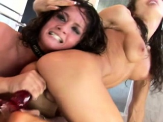 Brutal Lesbians Be in love with Anal