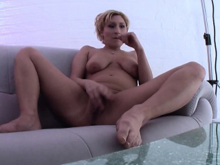 Unconventional german milf toying
