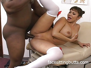 Big titted MILF is transmitted to best nurse just about