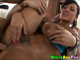 Busty MILF Lisa Ann with huge tits gets analed off out of one's mind chunky dick