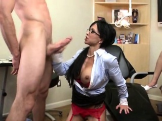 Busty Dentist Loves Anal And Facial From Say no to Patient