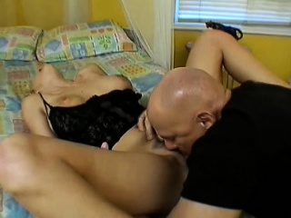 Non-restricted blonde mummy surrenders her hairy cunt far a horny guy on along to bed