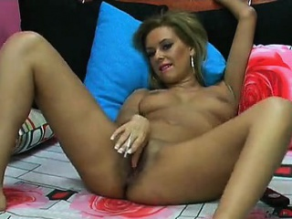 Cam blonde ID card her pussy lose one's train of thought is hot
