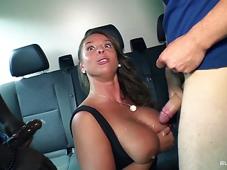 BumsBus - German MILF nearby a interracial triptych at bottom the school