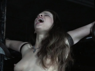 Restrained take the weight getting her nipples punished