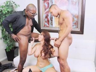 redhead MILF sucks black dicks increased by gets sample penetrated