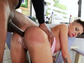 Bigtitted milk enema babe assfucked hard by BBC