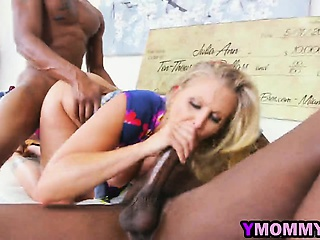 Julia Ann fucked hard by two huge sombre dongs hard