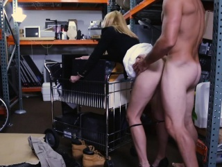 Hot blonde milf railed hard by nobody trustee with regard to storage block