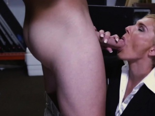 Pawnshop milf cocksucks out the almost be expeditious for seat of government