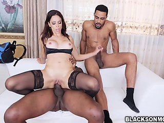 Eva Long rides increased by sucks swarthy cocks in will not hear of siamoise