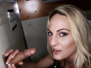 Busty gloryhole neonate railed in shavedpussy