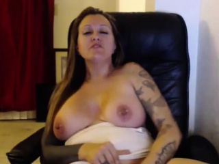 Chubby sandbar sexy miss Ivy with bulky bouncing boobs